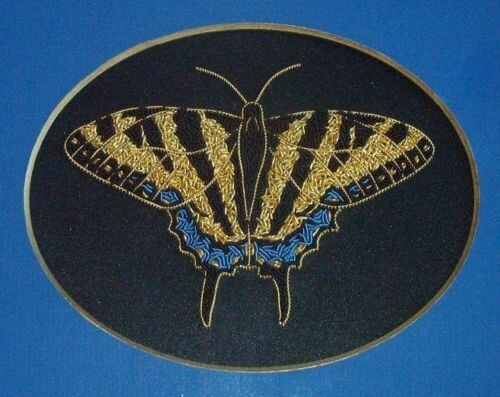 Alison Cole Goldwork Embroidery Tiger Swallowtail Butterfly