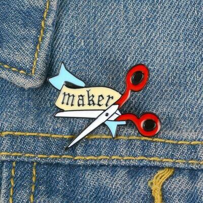Lapel Pin - Scissor Maker