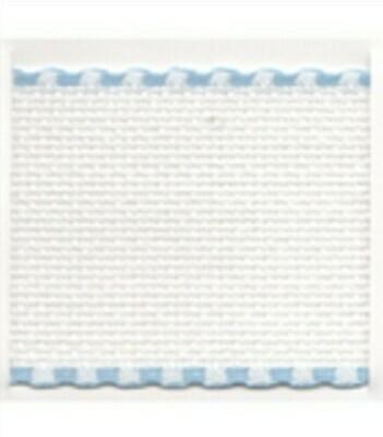 Aida Band 100mm White / Light Blue Trim (7195.151) /10cm increments