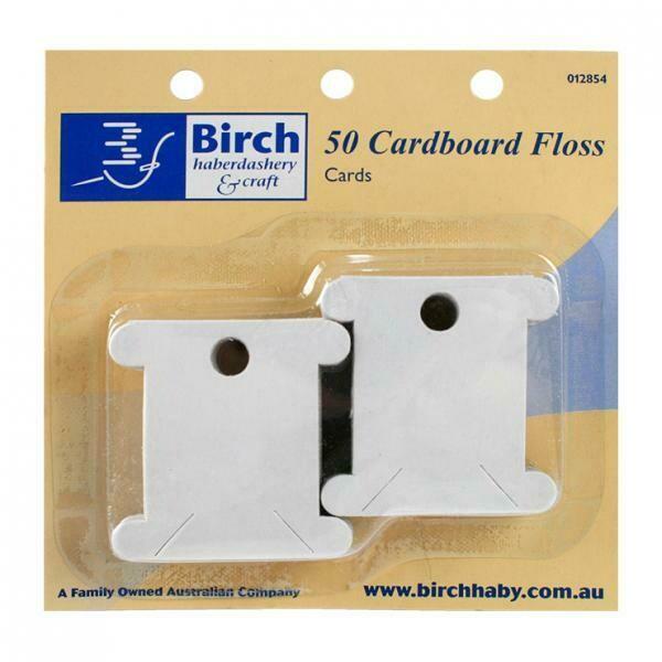 Birch Cardboard Floss Cards 50/pkt (012854)