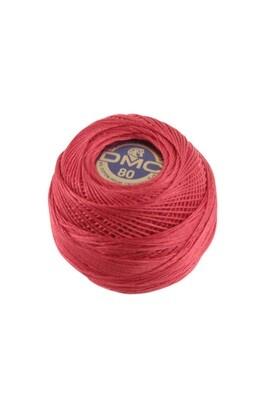 DMC Dentelles #80 Cotton Ball 0666 - Bright Red