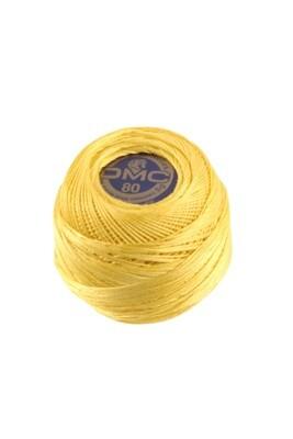 DMC Dentelles #80 Cotton Ball 0743 - Medium Yellow