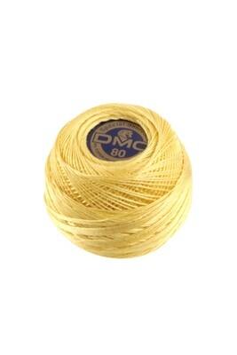 DMC Dentelles #80 Cotton Ball 0744 - Pale Yellow