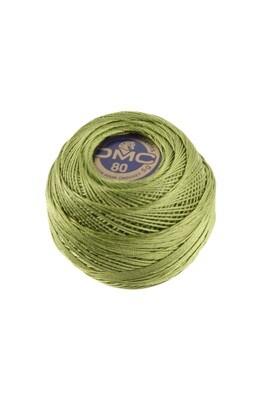 DMC Dentelles #80 Cotton Ball 3347 - Medium Yellow Green