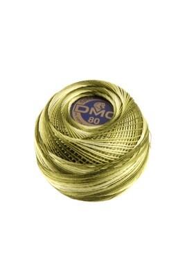 DMC Dentelles #80 Cotton Ball 0094 - Khaki Green