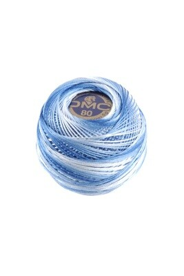 DMC Dentelles #80 Cotton Ball 0093 - Cornflower Blue