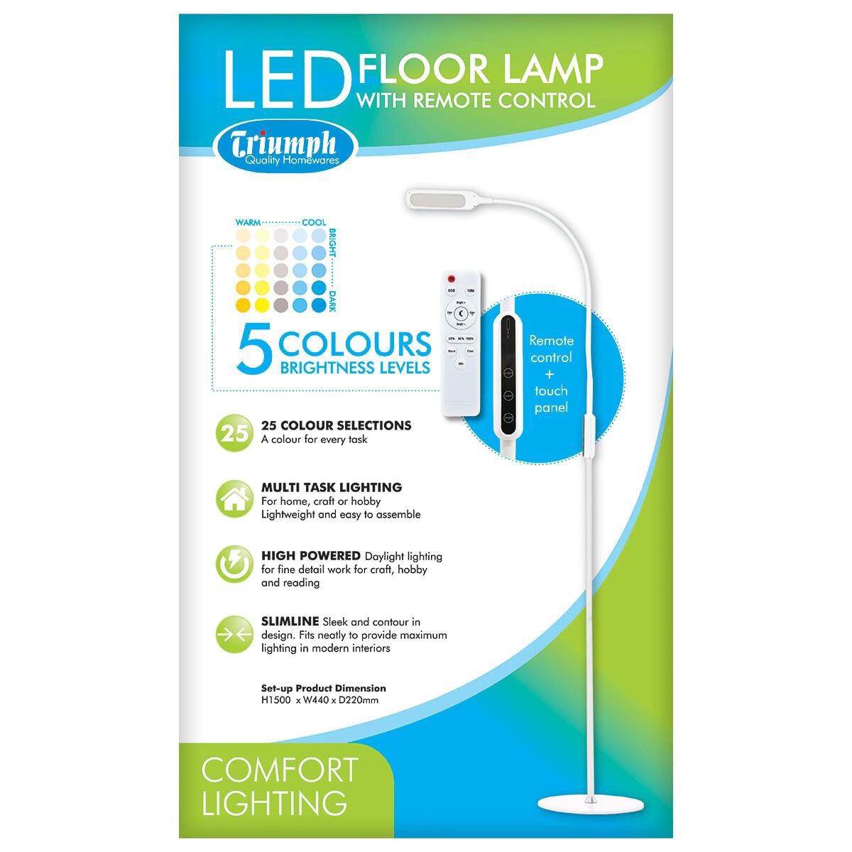 Triumph LED Dimable Floor Lamp White (ODU19A)