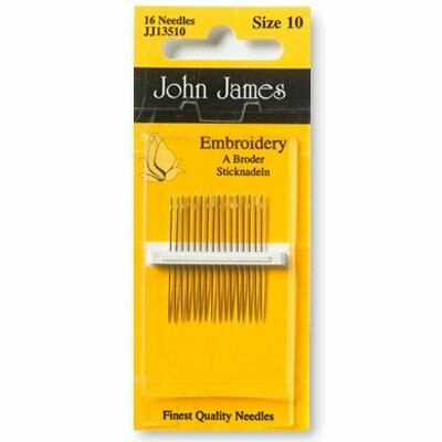 John James Embroidery #10 pkt