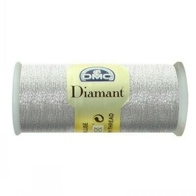 DMC380 Diamant Metallic Thread D0168 - Light Silver