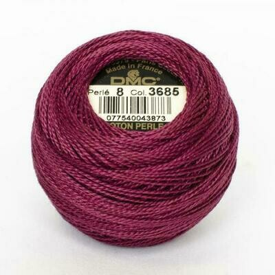 DMC116 Perle 05 Ball 3685 - Very Dark Mauve