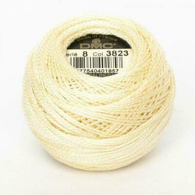 DMC116 Perle 08 Ball 3823 - Ultra Pale Yellow