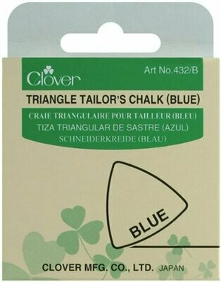 Clover Triangle Tailor's Chalk - Blue (432/B)