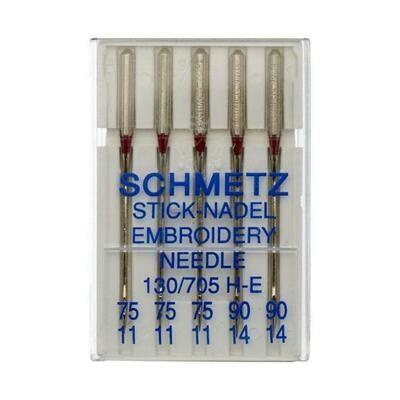 Schmetz Embroidery Mixed #075-090