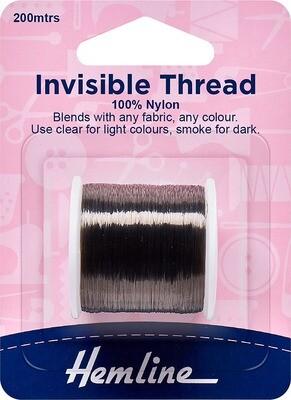 Hemline Invisible Thread 200m Smoke (241)
