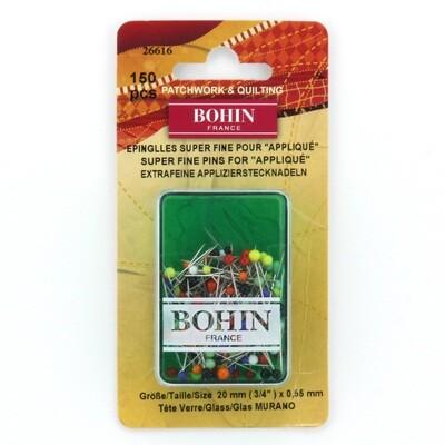 Bohin Glass Head Super Fine Pins 150pc (26616)