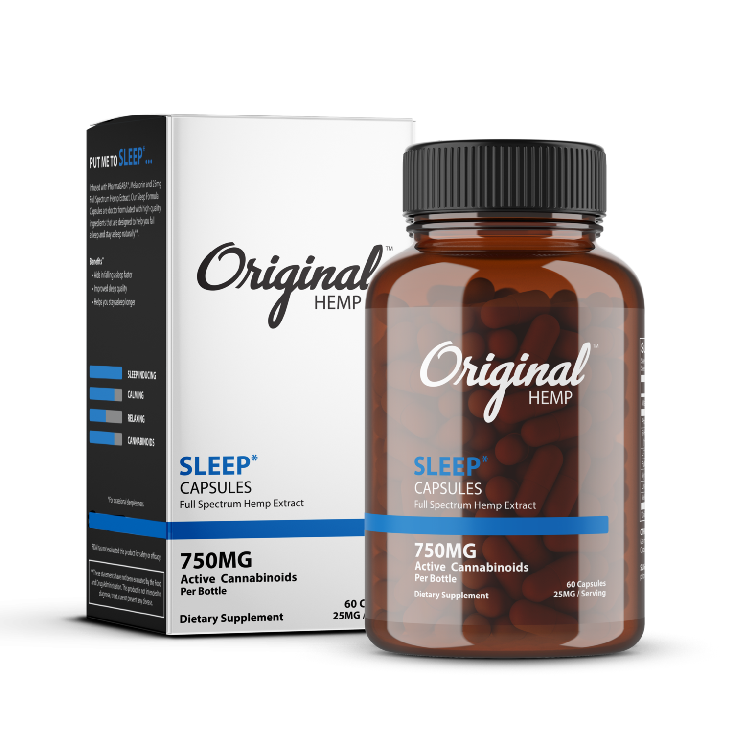 Original Hemp Sleep Capsules 750mg 60ct