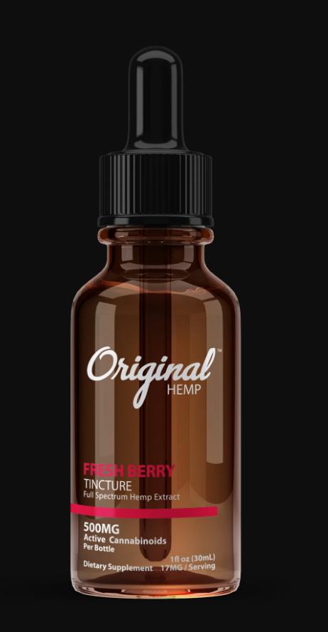 Original Hemp Fresh Berry 500mg Tincture (30ml)