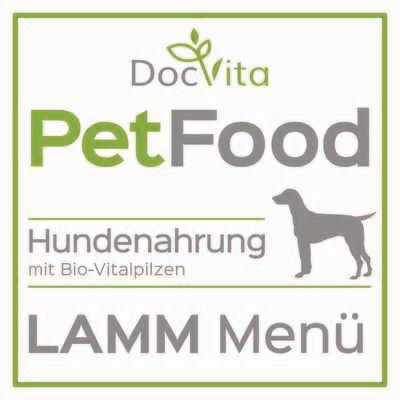 PetFood I Lamm-Menü I Trockenfutter mit Bio-Vitalpilzen 1,5 kg