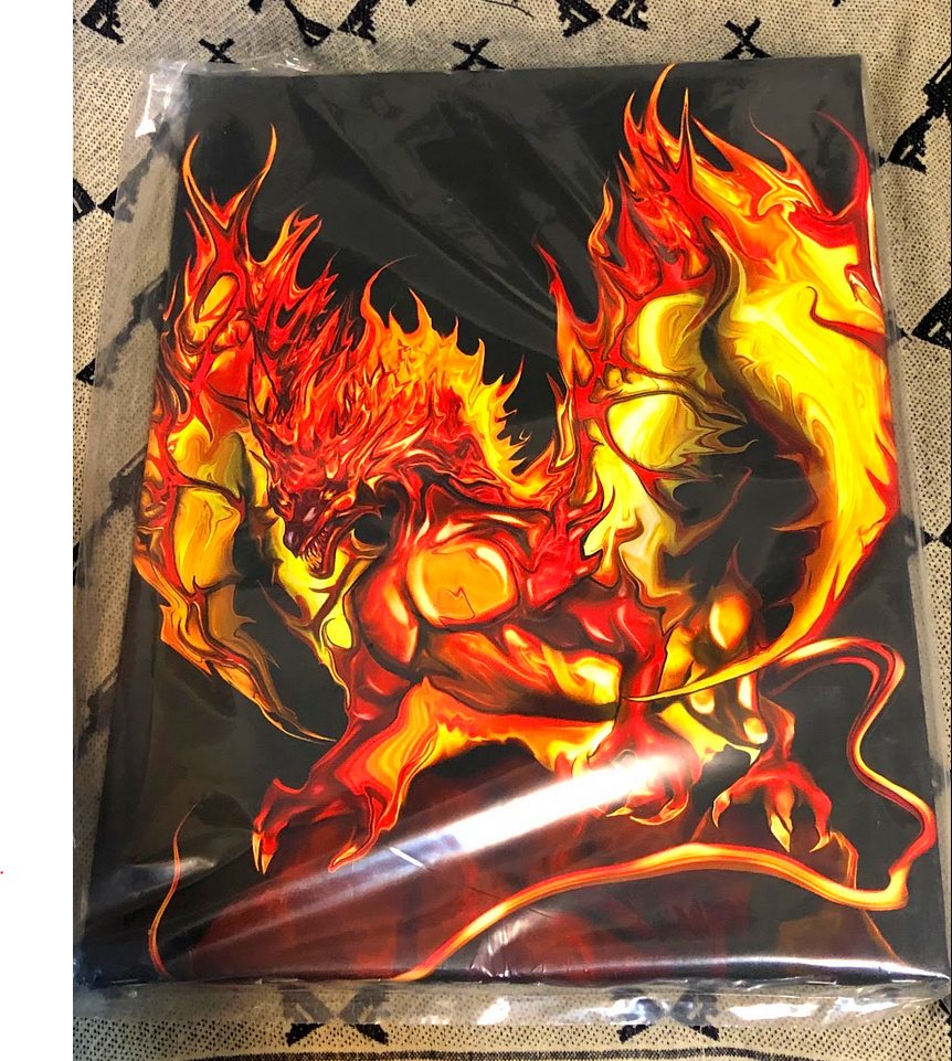 Dragon bound ready to hang  Free Shipping