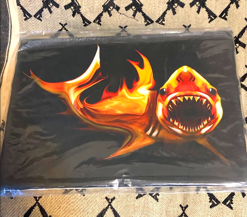 Great White bound ready to hang canvas Free Shipping