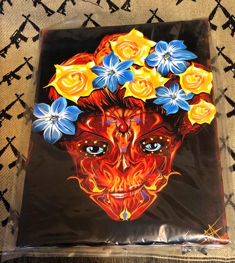 Sugar Skull bound ready to hang canvas Free Shipping