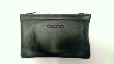 Fine Leather Zipper Tobacco Pouch