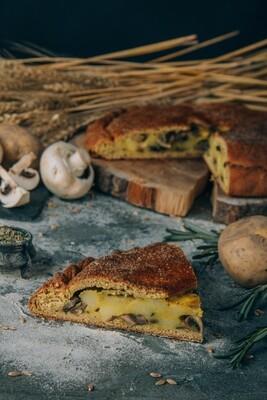 Пирог Картошка с грибами