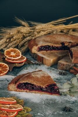 Пирог черная смородина с цедрой