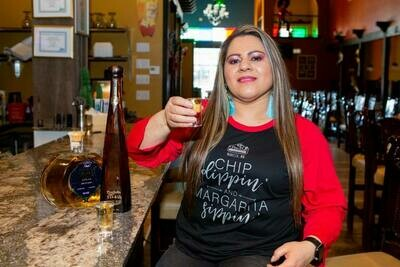 Chip Dippin & Margarita Sippin - 3/4 Sleeve Shirt