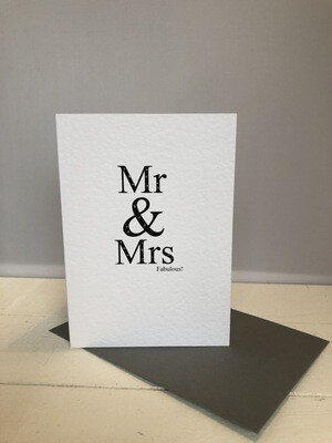 Mr & Mrs Fabulous Greeting Cards