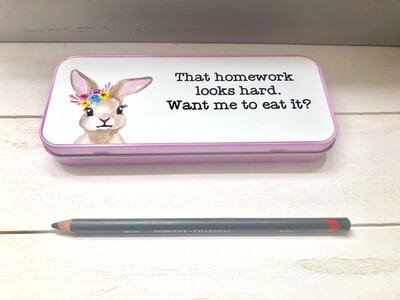 Tin Pencil Case In Pink Or Blue