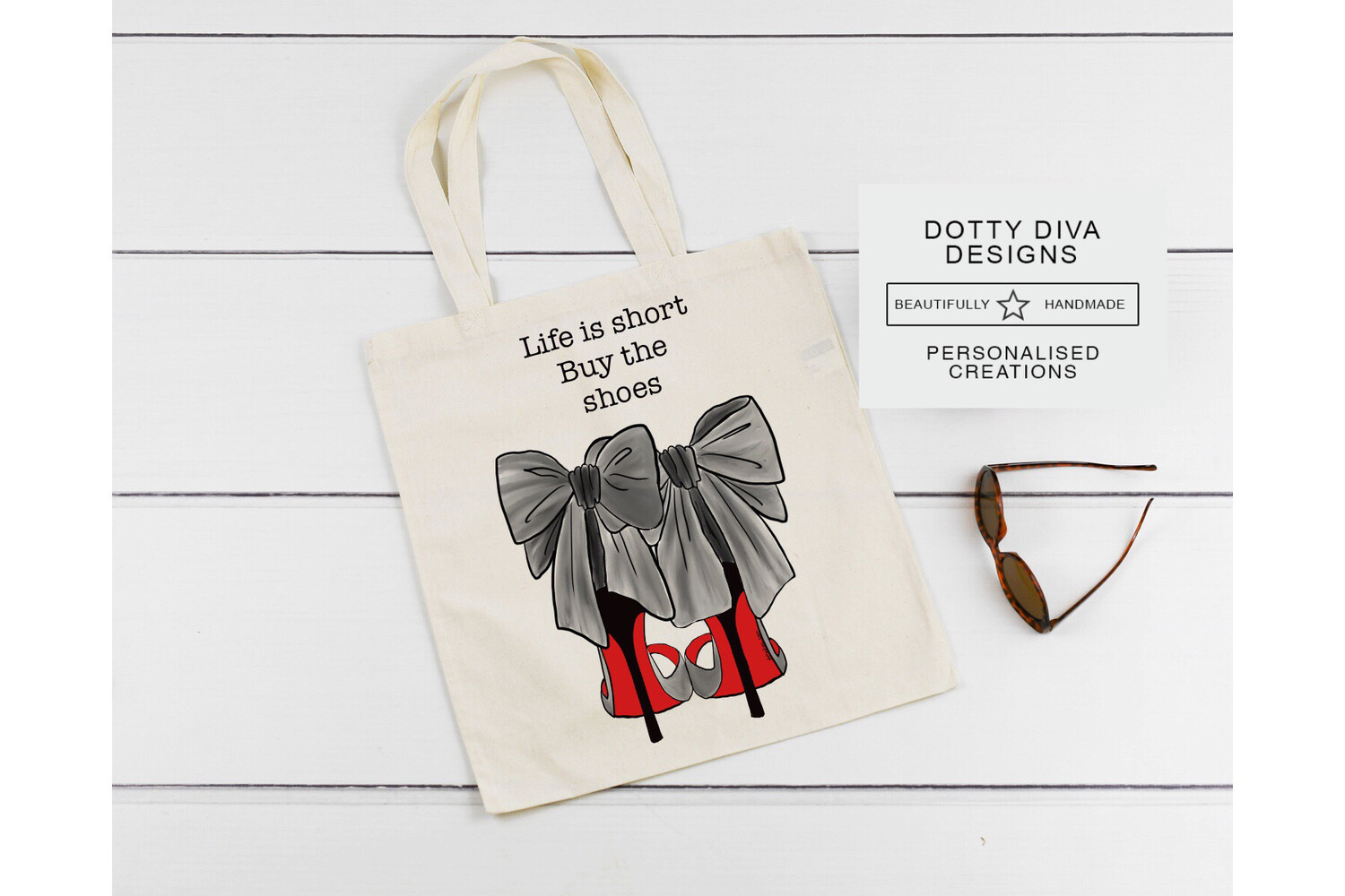 Designer Shoes Tote Bag.