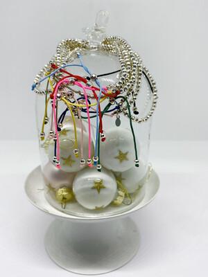 Sterling Silver Disco Bead Bracelet