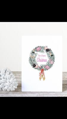 Designer Wreath Christmas Cards. Box Of 20