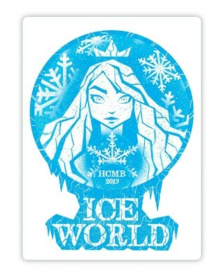 Ice World Car Magnet