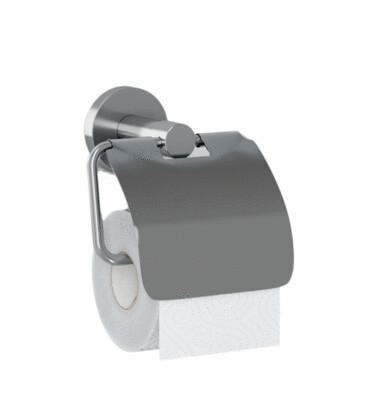 WC-Rollenhalter ECONOM mit Haube / Edelstahl matt