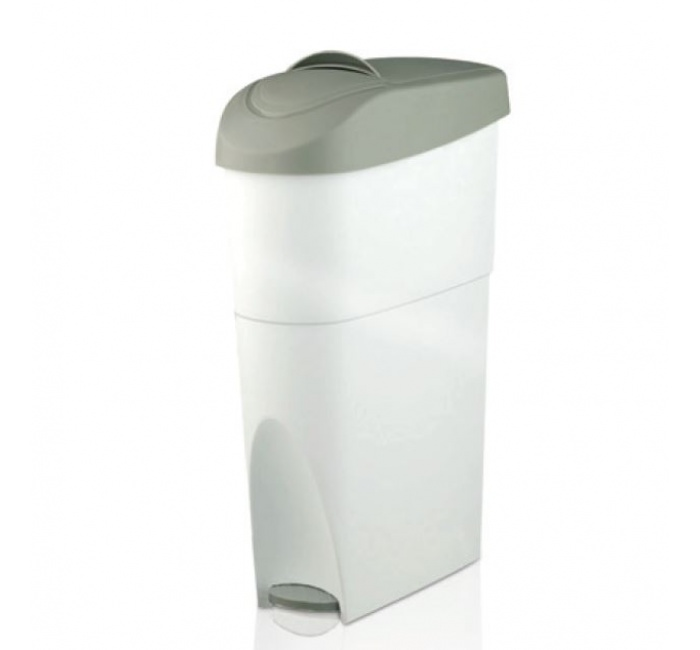 Hygieneabfallbehälter mit Pedal aus Kunststoff
