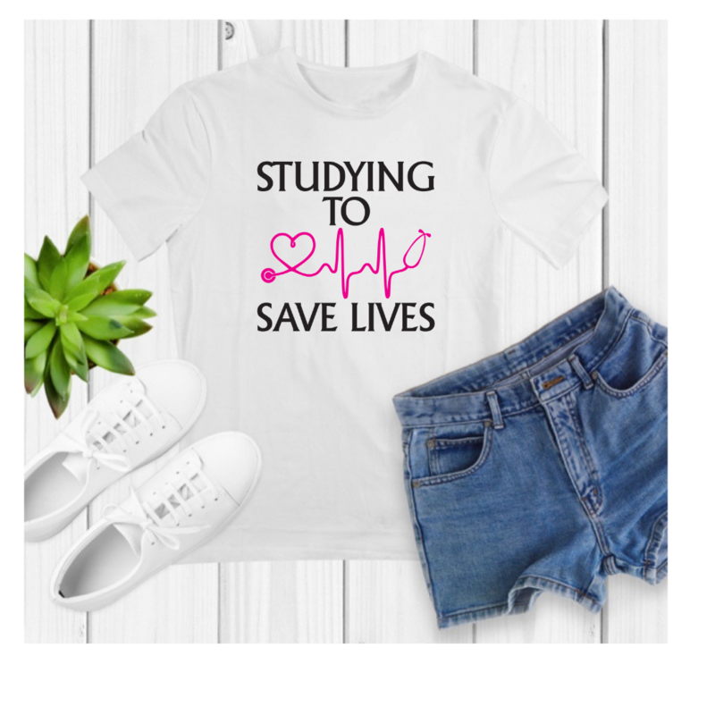 Studying to save lives. unisex. FREE SHIPPING
