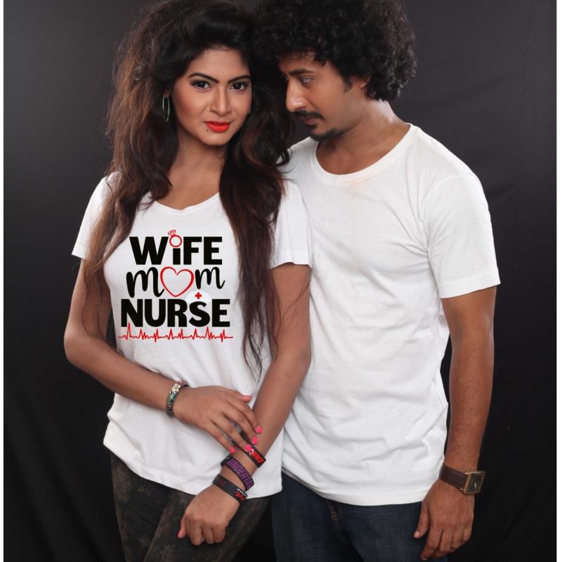 Wife. Mom. Nurse t-shirt. unisex. FREE SHIPPING