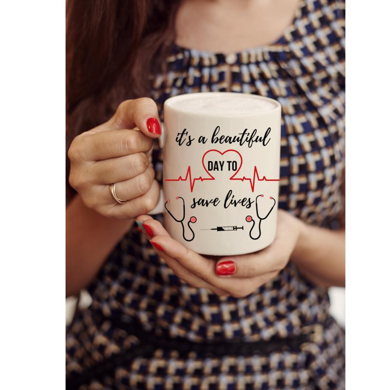 Its a beautiful day to save lives. mug