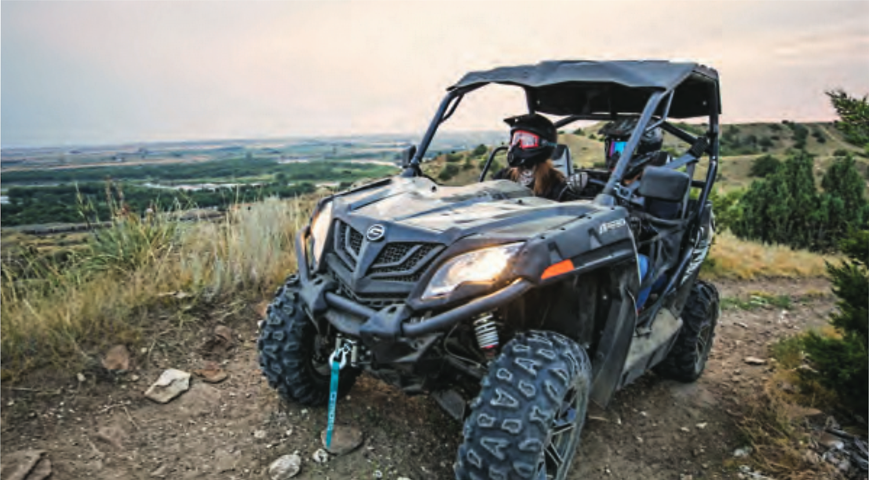 2019 CFMOTO ZFORCE 500 Trail EPS SSV 4x4 Black