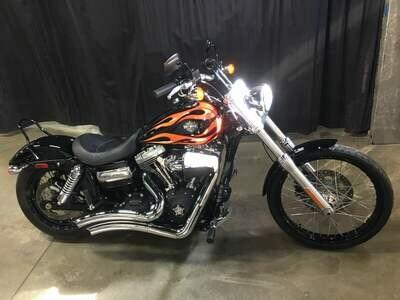 2011 Harley-Davidson FXDWG Dyna Wide Glide Black w/Flames