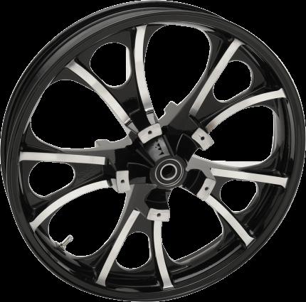 "Coastal Moto Black Cut 21"" x 3.5"" ABS Front Wheel, 08-Up Touring (0201-2209)"