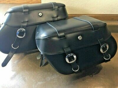 Leather Pros Classic 3000 Sportster Saddlebags w/Long Straps (LP3007)