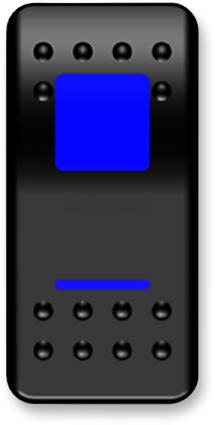 Moose On/Off Switch Rocker Blue (2106-0414)