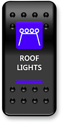 Moose Roof Light Switch Rocker Blue (2106-0416)