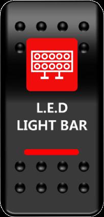 Moose Lightbar Switch Rocker Red (2106-0446)
