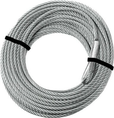 KFI Steel Winch Cable 2500-3500lb Replacement 3/16