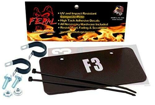 Feral ATV/UTV License Plate Kit Black Composite (04202B)