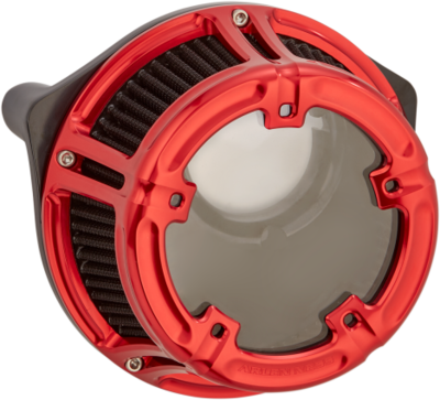 Arlen Ness Method Air Cleaner Red, 91-Up XL Sportster (18-173, 1010-2533)
